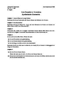 Synthetische Geometrie