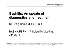 Syphilis: An update of diagnostics and treatment