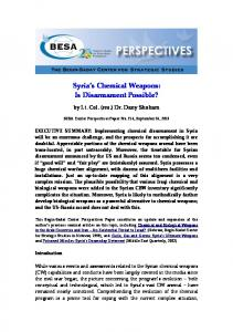 Syria s Chemical Weapons: Is Disarmament Possible?