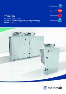 SYSAQUAH (Heat Pump) Models 25 to 125. Scroll Compressor