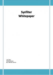 Sysfilter Whitepaper