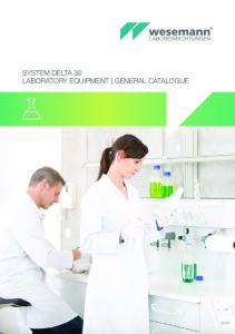 SYSTEM DELTA 30 LABORATORY EQUIPMENT GENERAL CATALOGUE