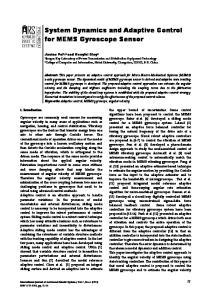 System Dynamics and Adaptive Control for MEMS Gyroscope Sensor