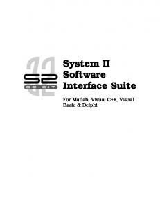 System II Software Interface Suite