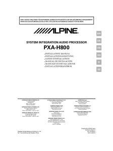 SYSTEM INTEGRATION AUDIO PROCESSOR PXA-H800