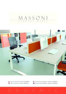 System mebli biurowych ENDEMIC Office furniture system ENDEMIC. Systém kancelářského nábytku ENDEMIC Systém kancelářského nábytku ENDEMIC