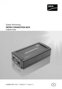 System Monitoring METER CONNECTION BOX