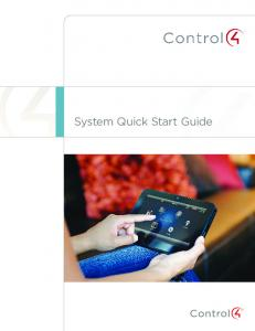 System Quick Start Guide