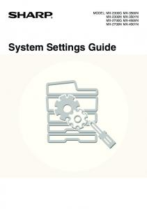 System Settings Guide