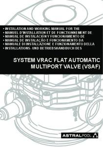 SYSTEM VRAC FLAT AUTOMATIC MULTIPORT VALVE (VSAF)