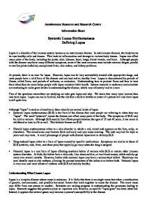 Systemic Lupus Erythematosus Defining Lupus