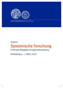 Systemische Forschung