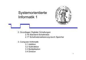 Systemorientierte Informatik 1