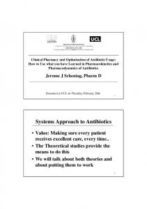 Systems Approach to Antibiotics