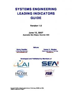 SYSTEMS ENGINEERING LEADING INDICATORS GUIDE