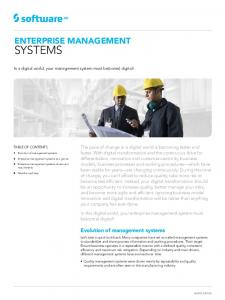 SYSTEMS ENTERPRISE MANAGEMENT. Evolution of management systems