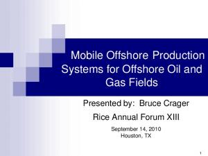 Systems for Offshore Oil and Gas Fields