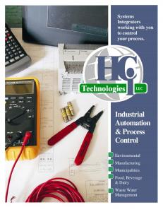 Systems Integrators working with you to control your process. Industrial Automation & Process Control