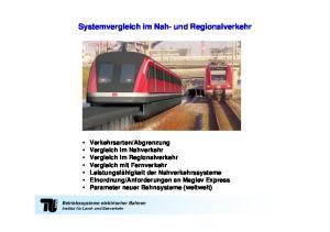 Systemvergleich im Nah- und Regionalverkehr