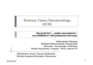 Systemy Czasu Rzeczywistego (SCR)