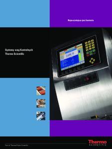 Systemy wag Kontrolnych Thermo Scientific