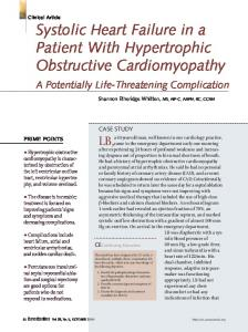 Systolic Heart Failure in a Patient With Hypertrophic Obstructive Cardiomyopathy