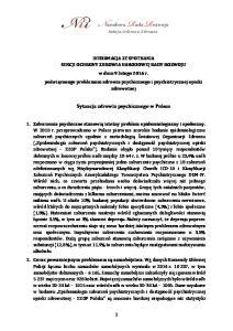 Sytuacja zdrowia psychicznego w Polsce