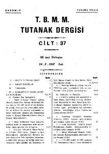 T. B. M. M. TUTANAK DERGİSİ