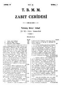 T. B. M. M. ZABIT CERİDESİ