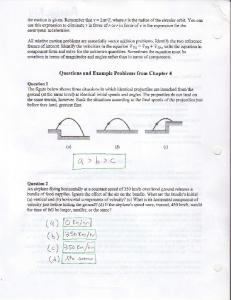 t, Questions and Example Problems from Chapter 4 tvv aor,'-