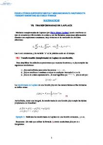 T0. TRANSFORMADAS DE LAPLACE