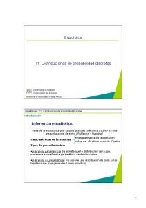 T1. Distribuciones de probabilidad discretas