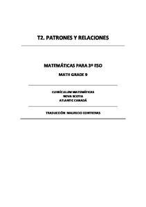 T2. PATRONES Y RELACIONES