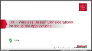T26 - Wireless Design Considerations for Industrial Applications