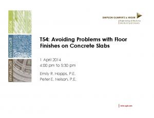 T54: Avoiding Problems with Floor Finishes on Concrete Slabs