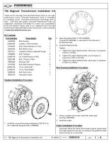 T56 Magnum Transmission Installation Kit