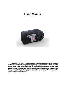 T8000 User Manual. User Manual