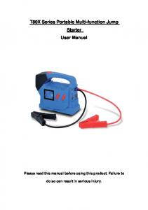 T80X Series Portable Multi-function Jump Starter User Manual