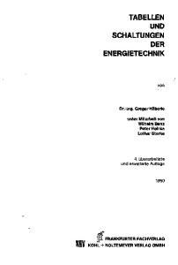 TABELLEN UND SCHALTUNGEN DER ENERGIETECHNIK