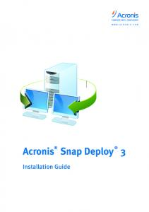 Table of Contents. 2 Acronis, Inc