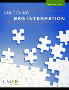 TABLE OF CONTENTS. Acknowledgments Executive Summary Introduction The Rise of ESG Integration... 7