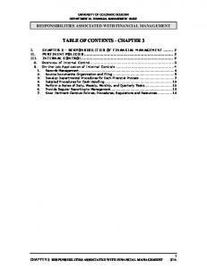 TABLE OF CONTENTS - CHAPTER 3