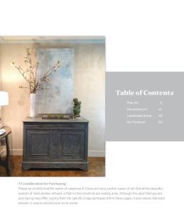Table of Contents. Fine Art 3. Decorative art 41. Landscape Boxes 49. Art Furniture 53