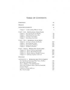 TABLE OF CONTENTS FOREWORD PREFACE ACKNOWLEDGMENTS. vii viii
