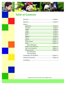 Table of Contents. Foreword...Chapter 1. Resources...Chapter 2