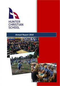 TABLE OF CONTENTS. Hunter Christian School Annual Report 2016 Page 2