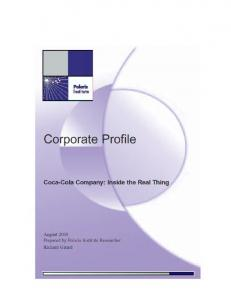 Table of Contents. Introduction Chapter One: Organizational Profile... 3