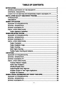 TABLE OF CONTENTS INTRODUCTION