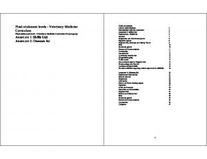Table of contents List of Abbreviations Introduction with the Annexure Annexure 1: Skills List  Skills List Annexure 2: Diseases list