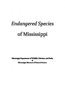 TABLE OF CONTENTS. List of Endangered Species Endangered Animals